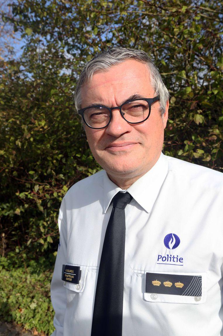Korpschef Marc Hellinckx van politie Pajottenland is opgetogen over het proefproject.