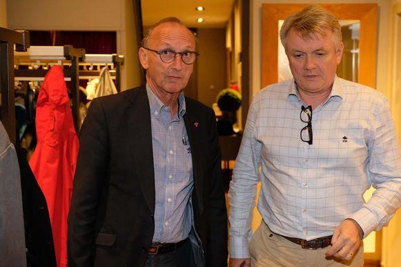 Burgemeester Frank Bogaerts en voorzitter Toon Vaessens.