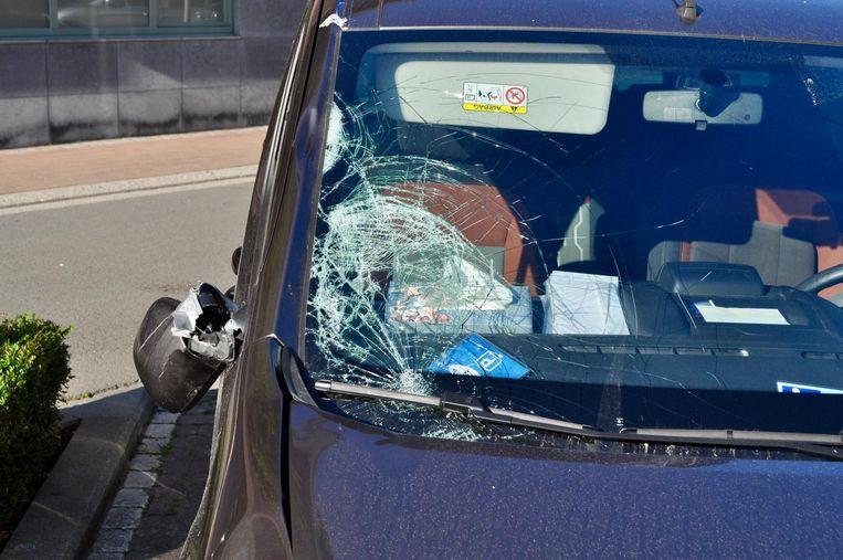 De daders reden met dit voertuig.