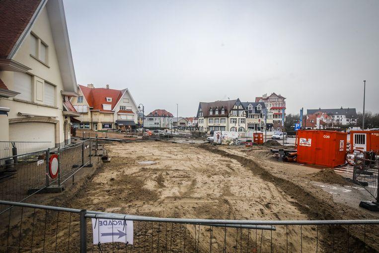 De Haan werken Leopoldplein zijn al even bezig