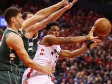 Toronto Raptors brengt spanning terug na dubbele verlenging