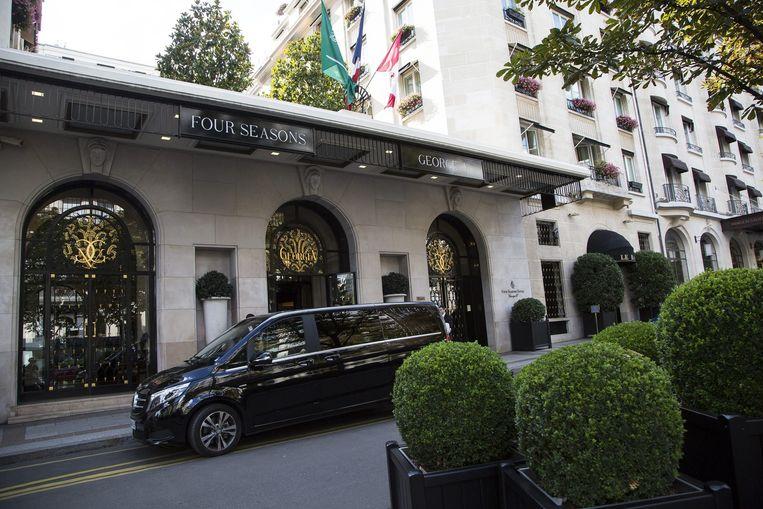 Het luxe hotel George V in Parijs. Beeld epa