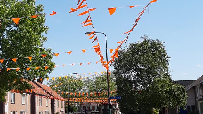 Vlaggetjes in Mill, speciaal voor de WK voor vrouwen.