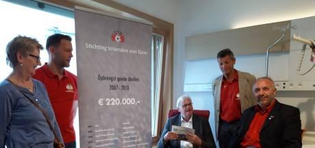 Voetbalvrienden uit Sint-Annaland geven ziekenhuis in Knokke twee palliatieve zorgkamers