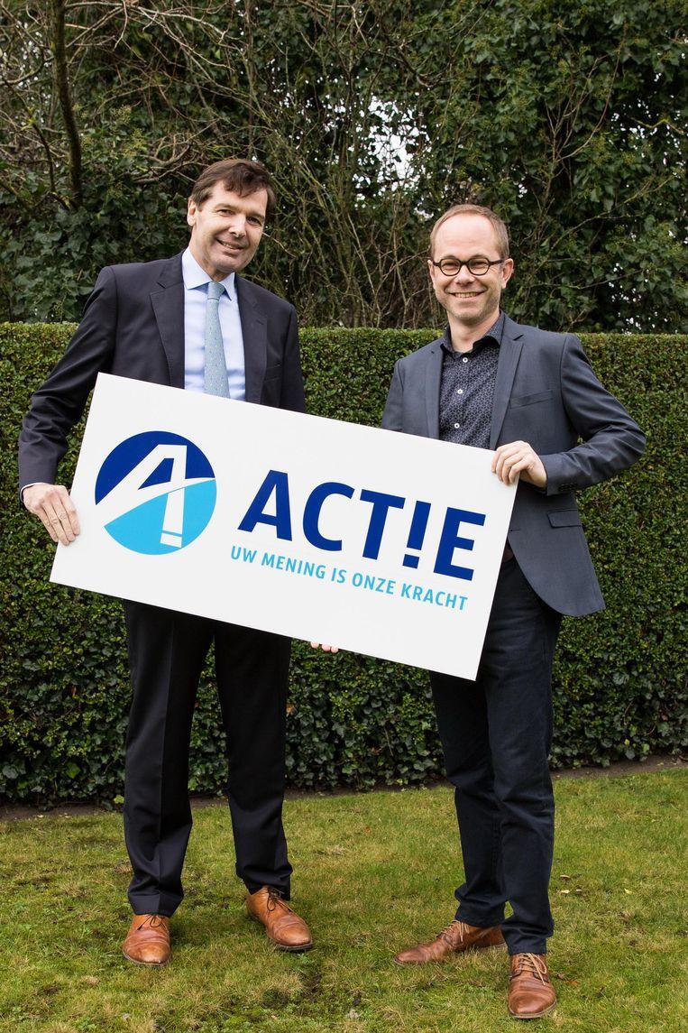 Lijstduwer Serge Van Damme en lijsttrekker Wim Janssens.