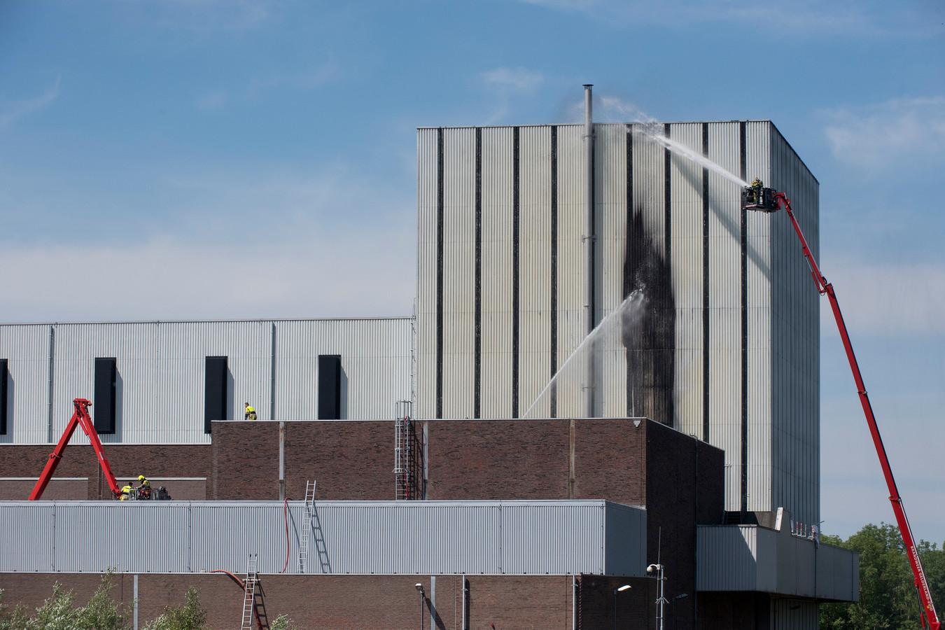 De brand in de kerncentrale in Dodewaard.