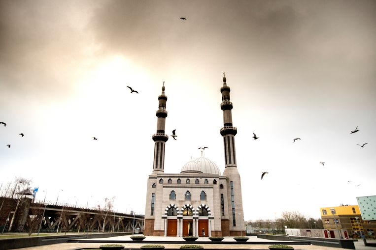 De Essalam Moskee in Rotterdam, waar Denk haar verkiezingscampagne voor de gemeenteraad begon. Beeld ANP