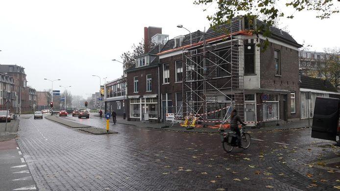 De hoek Stationsstraat - Gerdesstraat in Wageningen: deze huizen worden niet gesaneerd.