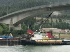Il filme une grue heurtant un pont en Alaska