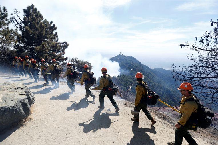 De Amerikaanse overheid gaf het afgelopen decennium meer dan 350 miljard dollar uit aan de gevolgen van extreem weer en brand. Beeld REUTERS