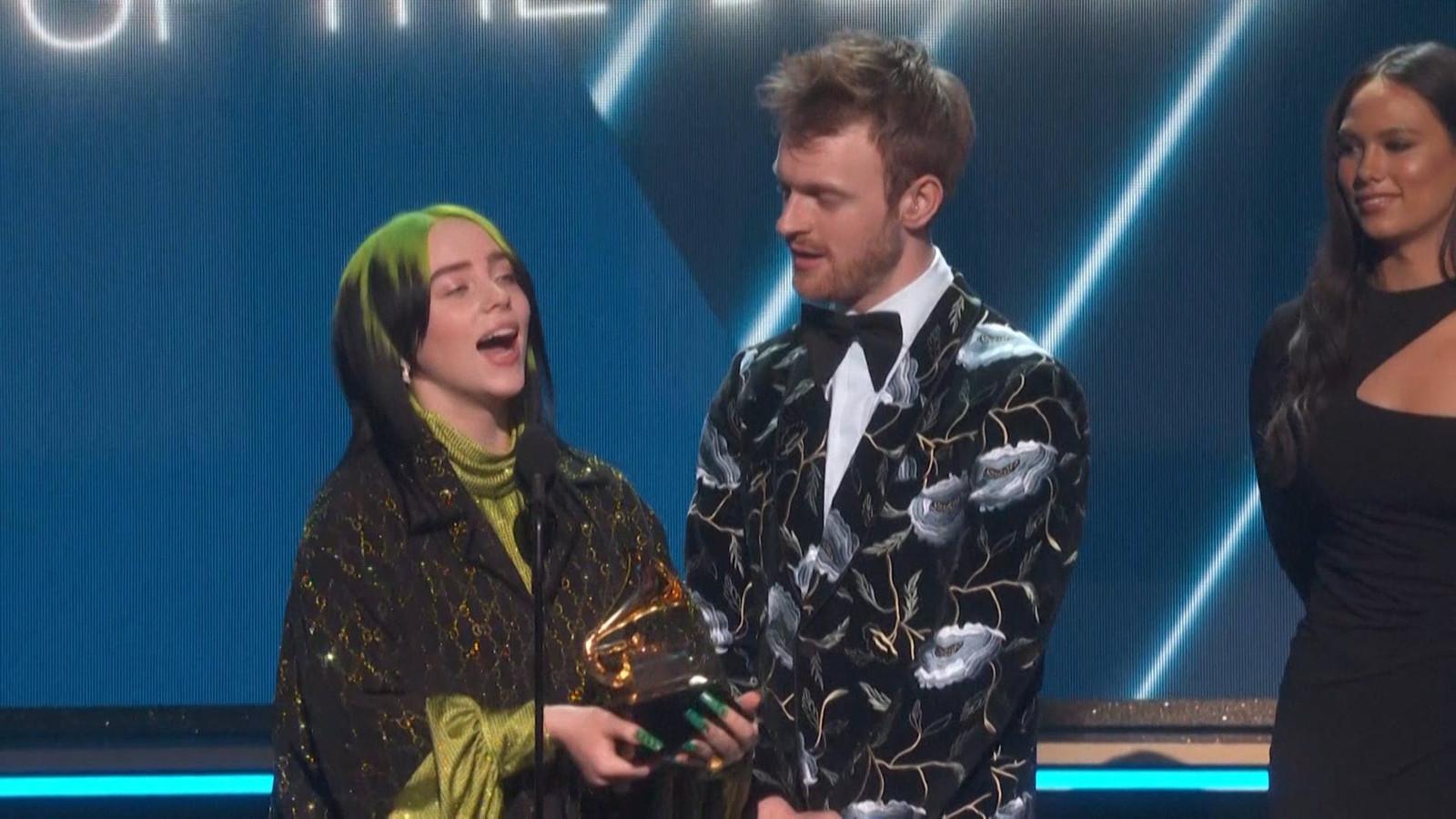 Billie Eilish grote winnaar met vijf prijzen bij Grammy's