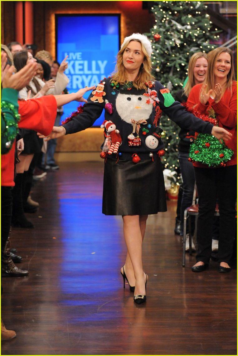 Lelijke Kersttrui.Kate Winslet In Lelijke Kersttrui Ik Doe Alles Met Toewijding