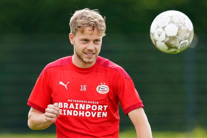 Dante Rigo tijdens de training van PSV.