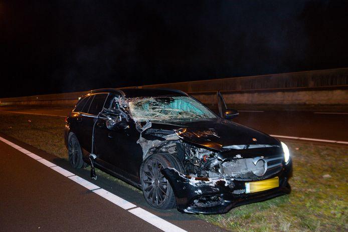 Ongeluk op de Burgemeester Bechtweg in Tilburg.