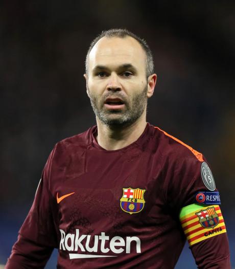 Iniesta over toekomst bij Barça: 'Ik ben er nog niet voor 100 procent uit'