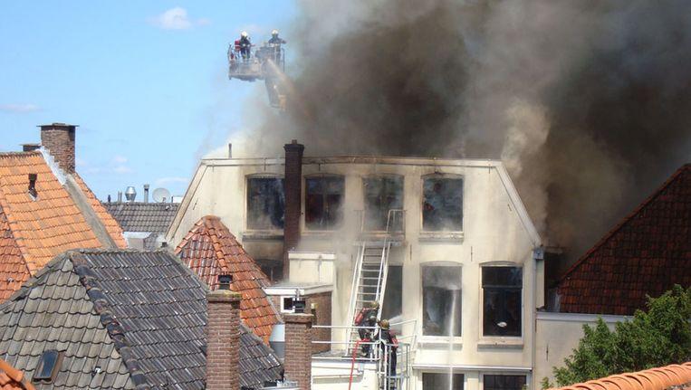 Steven van der Kolk maakte deze foto vanuit zijn woning. Beeld