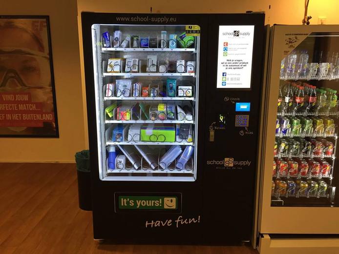Een automaat van SchoolSupply.