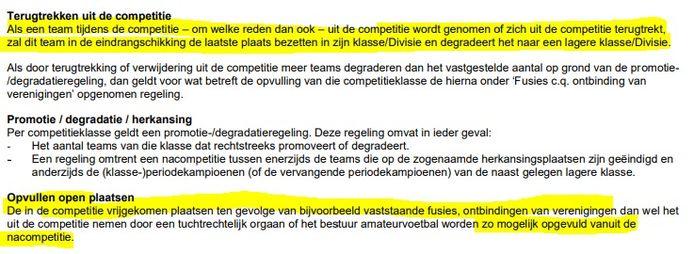 De reglementen van de KNVB