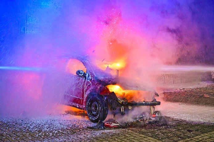 Autobrand in Valkenswaard.