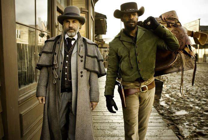 """Christoph Waltz et Jamie Foxx dans """"Django Unchained""""."""