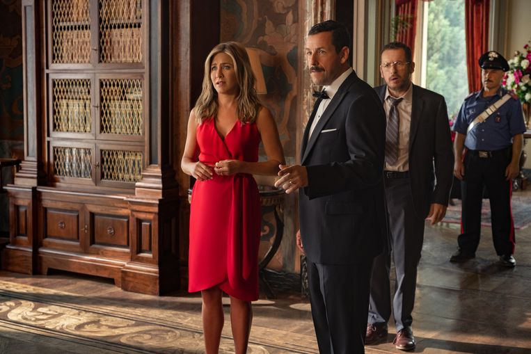 Jennifer Aniston en Adam Sandler in 'Murder Mystery'.