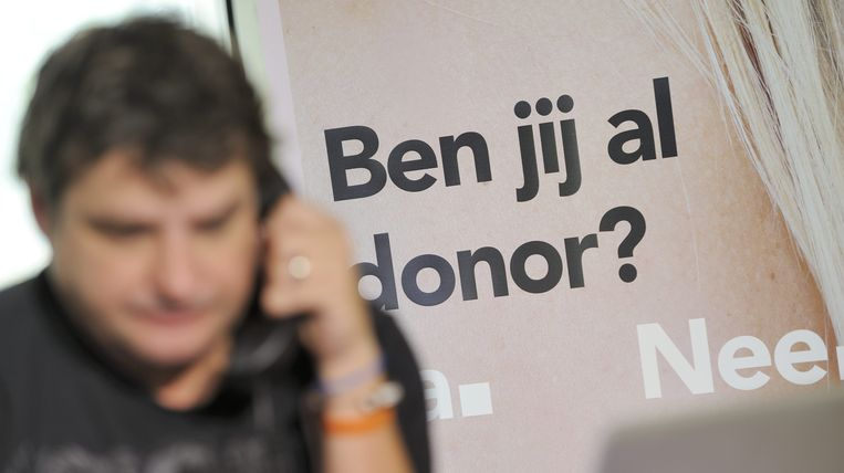Acteur Frank Lammers werft telefonisch orgaandonoren.  Beeld anp
