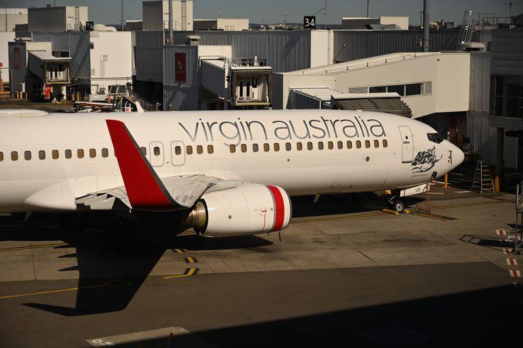 Een vliegtuig van Virgin Australia op de luchthaven van Sydney.