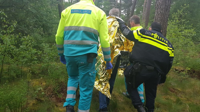 De vermiste man werd teruggevonden bij een bosperceel.