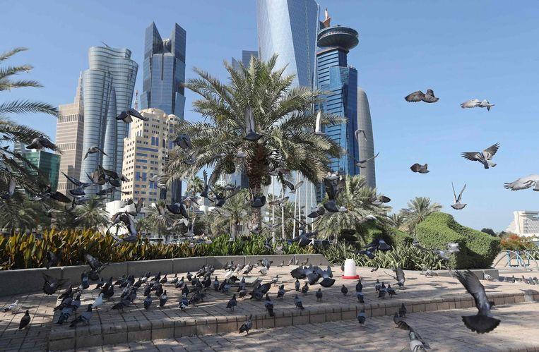 De skyline van Doha, Qatar. Beeld afp