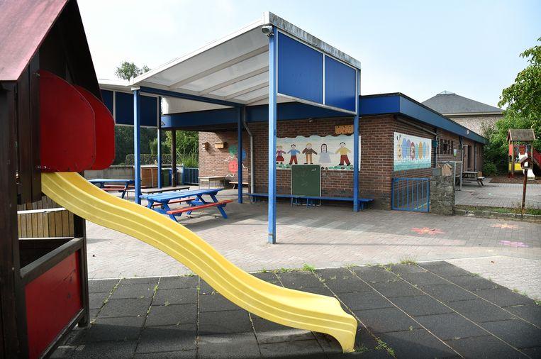 Kleuterschool De Beverburcht in Maaseik. Beeld Marcel van den Bergh / de Volkskrant
