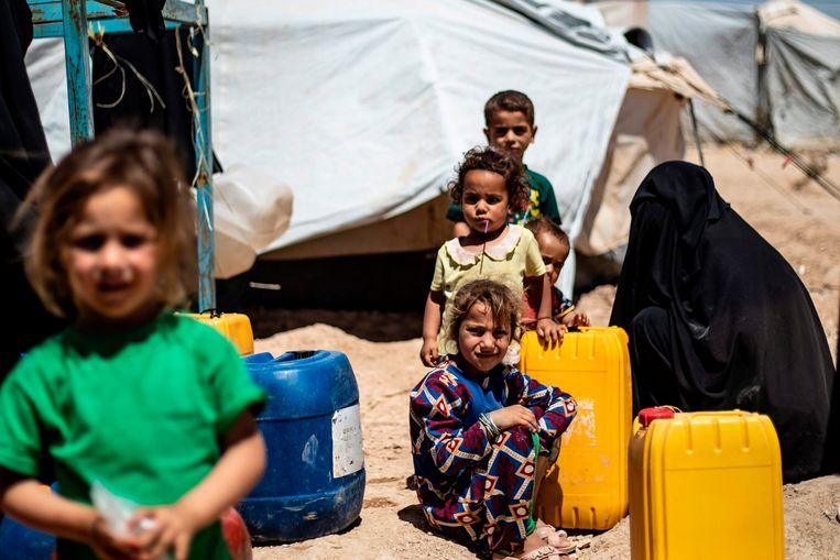 In het kamp van Al-Hol, Syrië.
