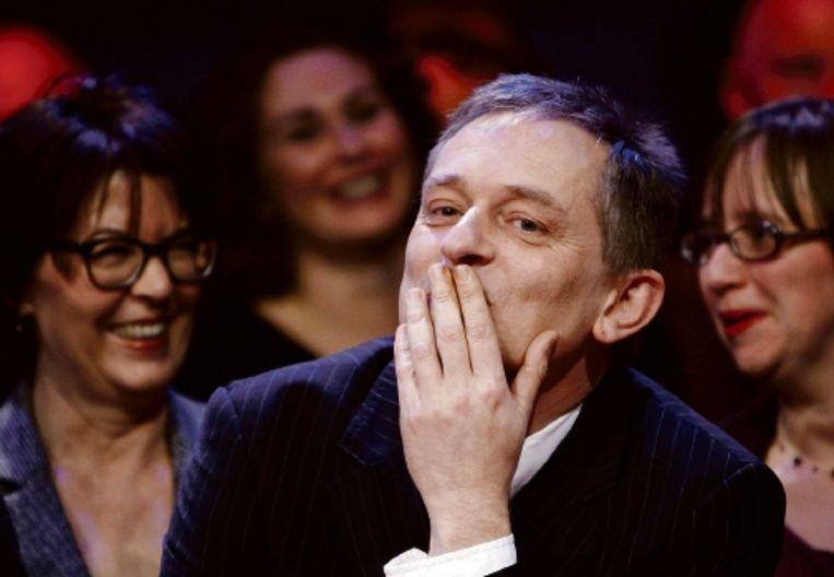 De Vlaamse schrijver Erwin Mortier, winnaar van de AKO Literatuurprijs 2009, bij de uitreiking. (FOTO ANP) Beeld