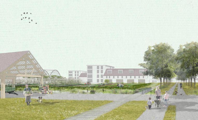 Nu nog een toekomstbeeld, maar naar alle waarschijnlijkheid binnenkort gerealiseerd: wijk De Werve Hoef.