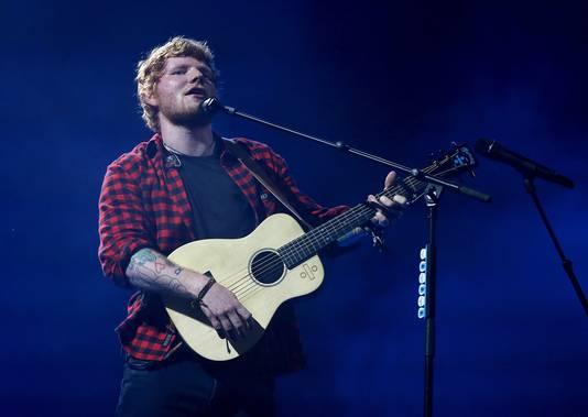 Wereldster Ed Sheeran live in actie.