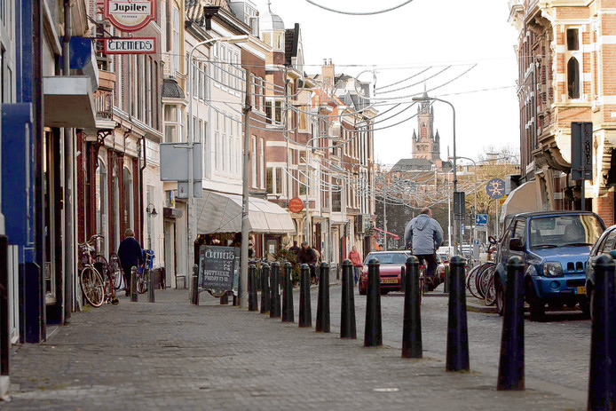 Fietsen in de Haagse Prinsestraat is volgens verschillende raadsleden geen pretje.