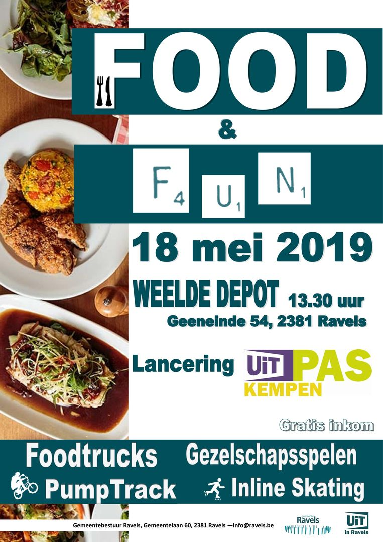 De affiche van Food & Fun 2019