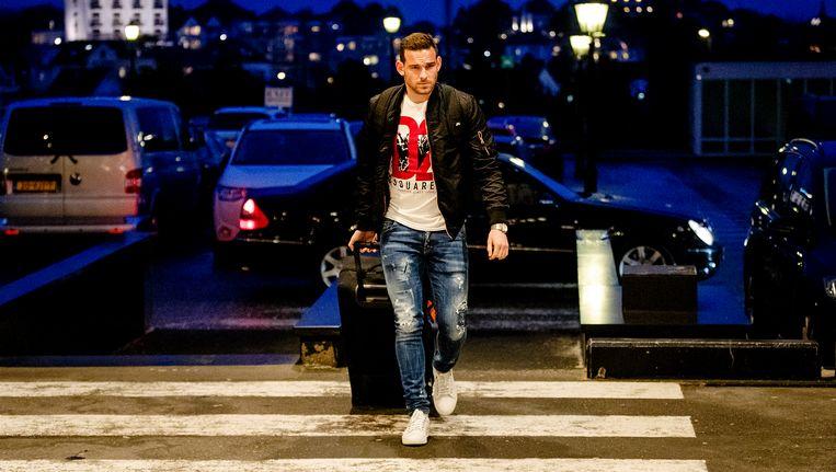Vincent Janssen arriveerde deze week nog fit bij het Nederlands Elftal. Beeld ANP