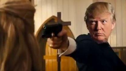 Trump-aanhangers krijgen gefabriceerde video te zien waarin president media en politici vermoordt