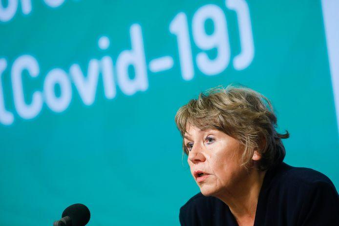 Karine Moykens, présidente du Comité interfédéral Testing & Tracing.