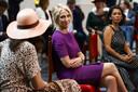 Kamerlid Lilian Marijnissen voorafgaand aan de troonrede op Prinsjesdag in de Grote Kerk