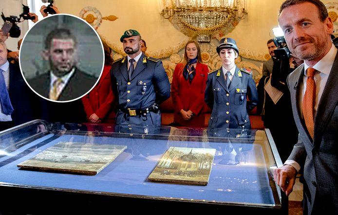 Directeur van het Van Goghmuseum Axel Rüger wordt in Italië met de verloren gewaande schilderijen herenigd.  Inzet: maffiabaas Raffaele Imperiale.