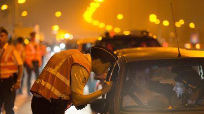 Politie betrapt zes dronken chauffeurs