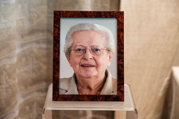 Marcelle Van den Bril, hier op een foto tijdens haar begrafenis.