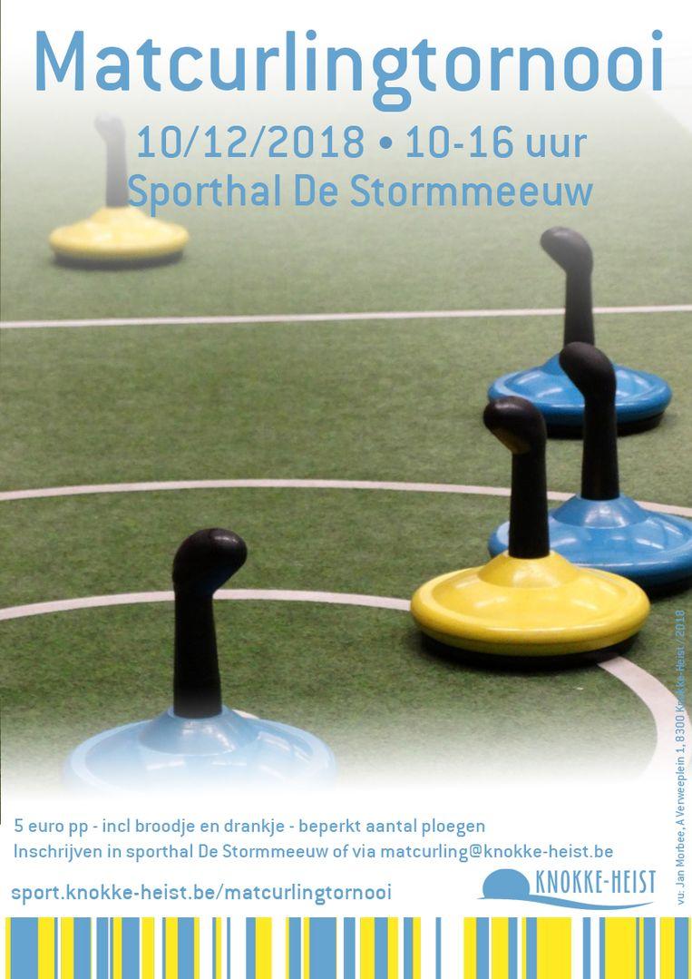 Het toernooi vindt plaats in de stormmeeuw