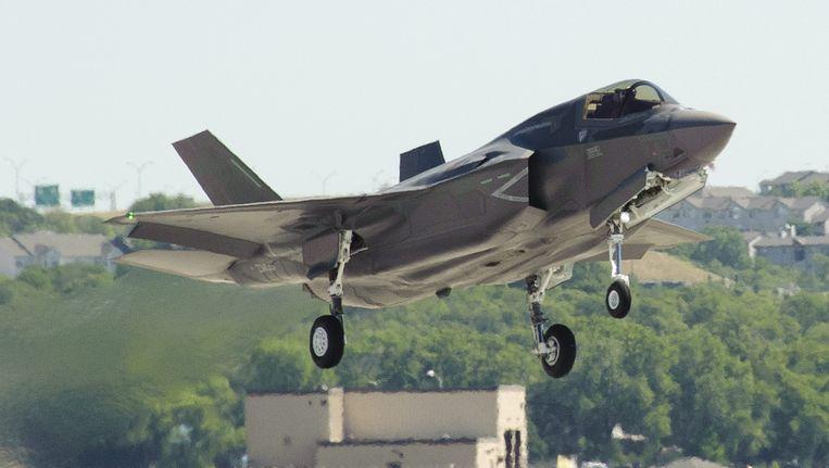 In de eerste twee weken van augustus heeft de voor Nederland bestemde Joint Strike Fighter (JSF) de eerste testvluchten gemaakt in Texas. Beeld epa