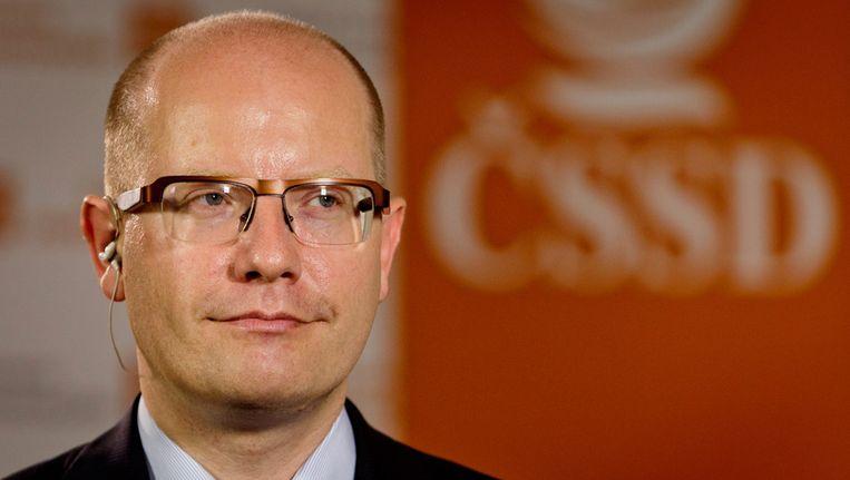 De leider van de sociaaldemocraten, Bohoeslav Sobotka, heeft toegegeven dat de uitslag van de verkiezingen hem is tegengevallen. Beeld getty
