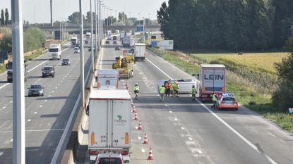 Uur aanschuiven op E17 Kruishoutem na ongeval met bestelwagen