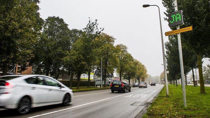 De binnenstad in Utrecht is een verboden zone voor vervuilende oude dieselauto's.