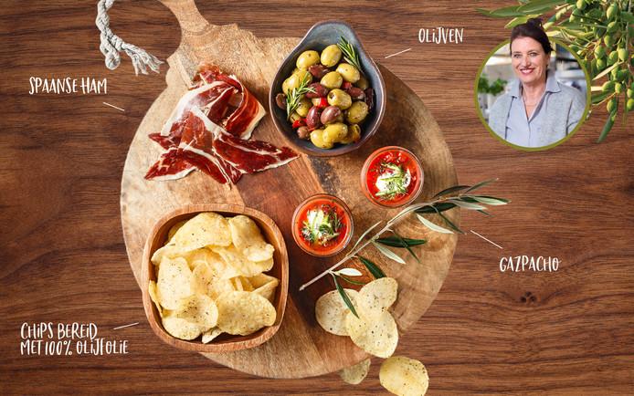 Lay's Méditerranée 3 Peppers is bereid met 100% olijfolie en lekker pittig en past heerlijk bij de andere hapjes.