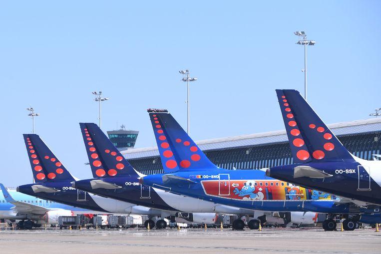 Vliegtuigen van Brussels Airlines op Zaventem.